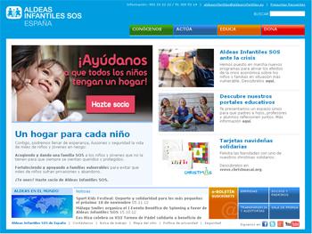Web de Aldeas Infantiles