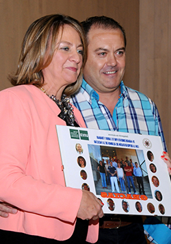 Amelia Pérez Zabaleta con Fernando Pérez