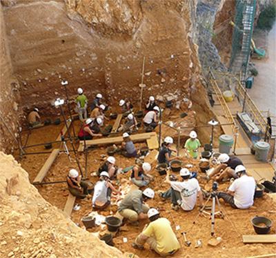 Excavaciones yacimiento de Gran Dolina