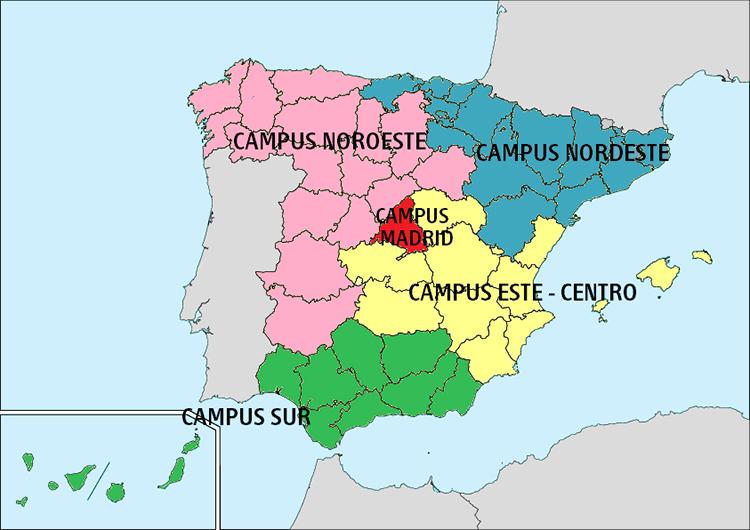 Mapa nuevos campus