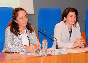 Consuelo Vélaz de Medrano (izda.) y Nuria Manzano