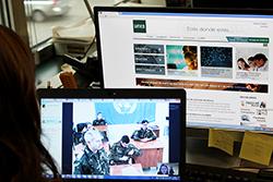 Foto de la noticia La UNED examina por videoconferencia a seis cascos azules destinados en la base militar libanesa Miguel de Cervantes