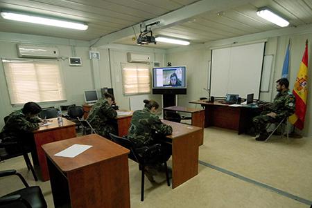 Realización de exámenes en el Libano