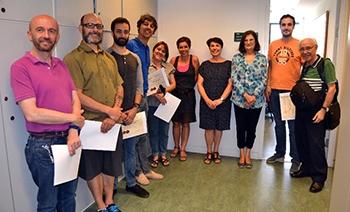 Equipo Técnico del CEMAV y profesores de la Facultad de Ciencias de la UNED galardonados