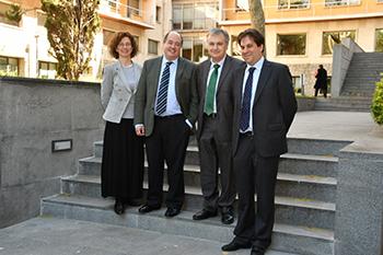 María Salvador, Eduardo Vírgala, Ignacio Gutiérrez y Jorge Alguacil