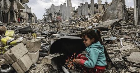 Ciudad bombardeada