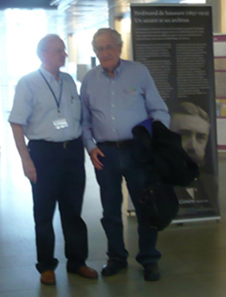 Antonio Domínguez Rey y Noam Chomsky