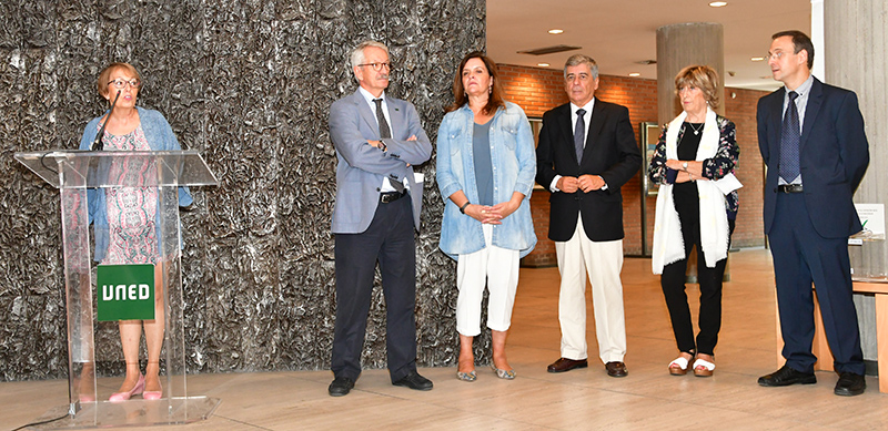 María Teresa Lavado, Alejandro Tiana, Isabel Calzas, Julio Neira, María José Díaz-Plaja y Marcelino Jiménez