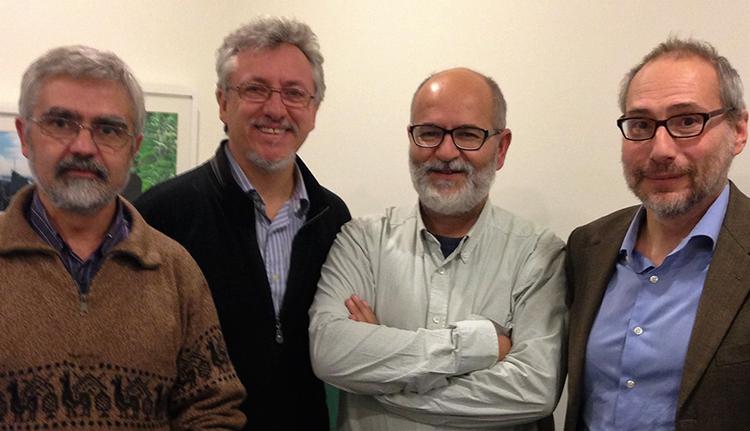 José Ubaldo Bernardos, Miguel Santamaría, Mauro Hernández y Rafael Barquín