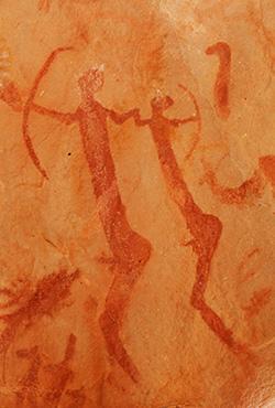 Arqueros pintados en Azguer