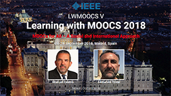 Foto de la noticia La UNED organiza el V Congreso Internacional 'Learning with MOOCs'