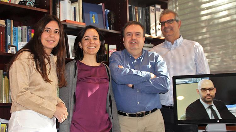 Ana Herrero, Carolina Navarro, Javier Martín, Manuel Tranchez y Pedro Antonio Tamayo