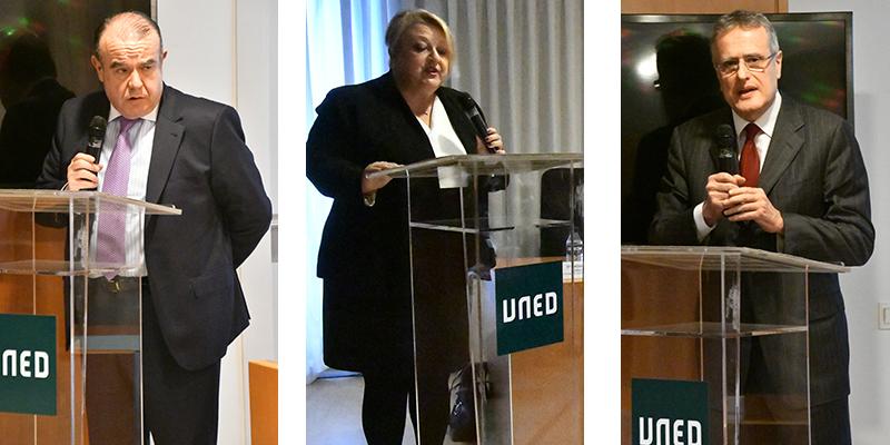 Pedro Tenorio, María Dolores Sánchez e Ignacio García-Perrote