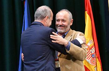 El rector Mairal y el director Chacón durante el Congreso
