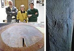 Foto de la noticia Científicos de la UNED analizan los restos de pigmentos hallados en el Dolmen de Soto