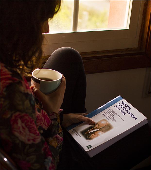 Café y lectura.