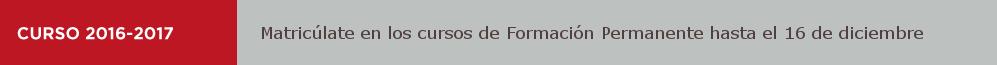 Matrícula Formación Permanente UNED 2016-2017