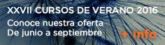 XXVII CURSOS DE VERANO 2016