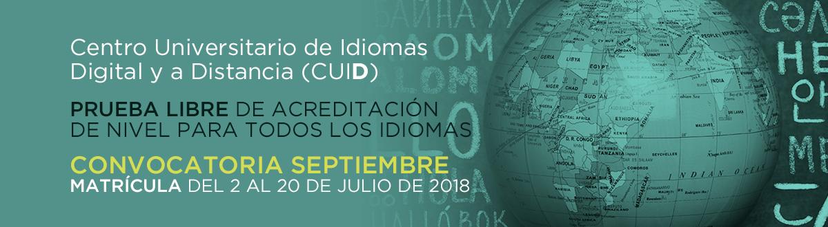CUID - Convocatoria septiembre