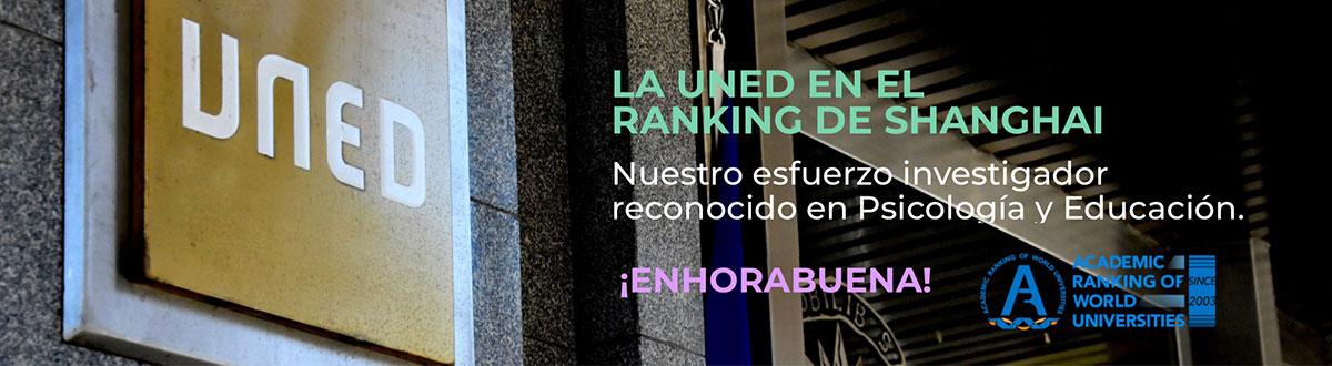 La UNED luce su investigación en el ranking de Shanghai